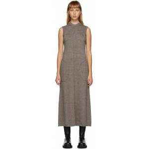 Peter Do SSENSE Exclusive Brown Knit Sleeveless Dress  - Cacao - Size: Small