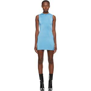 Georgia Alice SSENSE Exclusive Blue Twisted Mini Dress  - Aqua - Size: Extra Small