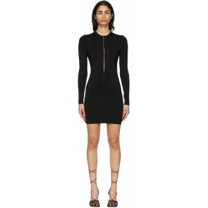Lee Dion Lee Black Open Neck Mini Dress  - Black - Size: Extra Small