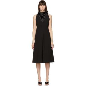 System Black Shawl Neck Dress  - BLACK - Size: Extra Small