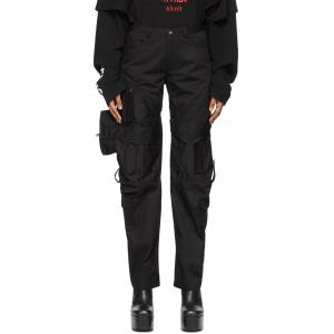 Hood by Air Black Zippered Cargo Pants  - BLACK - Size: 28