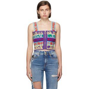 Versace Jeans Couture Multicolor Jacquard Logo Tape Tank Top  - E983 Mult.Scuri - Size: Extra Small