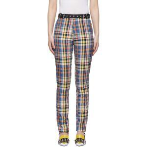 Marques Almeida Multicolor Check Tailored Trousers  - Multi Check - Size: 24