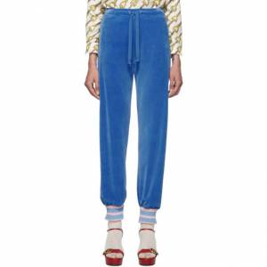 Gucci Blue Chenille Lounge Pants  - 4318 Royal - Size: 28