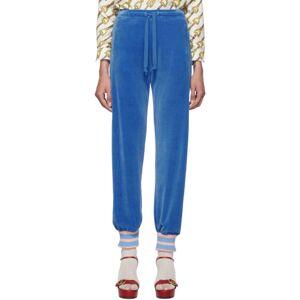 Gucci Blue Chenille Lounge Pants  - 4318 Royal - Size: 24