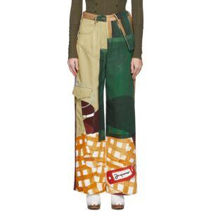Jacquemus Multicolor Le Jean De Nimes Jeans  - Print - Size: 28