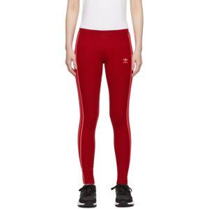 adidas Originals Red 3-Stripes Leggings  - Scarlet - Size: 26