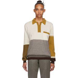 Martine Rose Beige Merino Fine Knit Polo  - Beige - Size: Extra Small