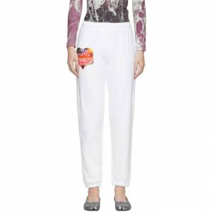 Ashley Williams SSENSE Exclusive White Cosmic Wonder Lounge Pants  - White/Print - Size: 28