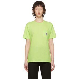 Carhartt Work In Progress Green Carrie T-Shirt  - Lime / Ash - Size: Medium