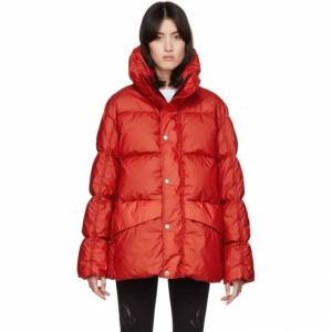 Genius Moncler Genius SSENSE Exclusive 6 Moncler 1017 ALYX 9SM Red Down Eris Jacket  - 455 Red - Size: Extra Small