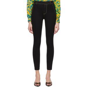 Versace Jeans Couture Black Mesh Bodycon Trousers  - E899 Black - Size: 24