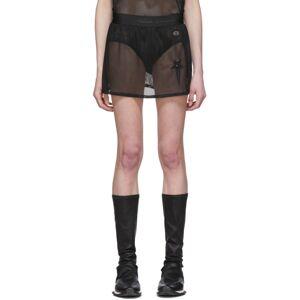 Rick Owens Black Champion Edition Sheer Mesh Toga Shorts  - 09 Black - Size: 24