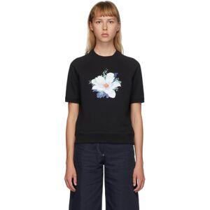 Kenzo Black Vans Edition Floral Short Sleeve Sweatshirt  - Black - Size: Extra Small