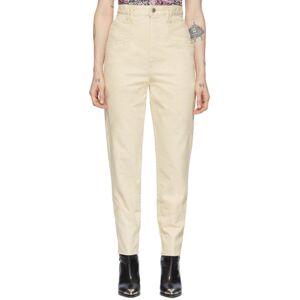 Isabel Marant Beige Eloisa Jeans  - 23EC Ecru - Size: 30