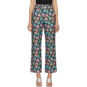 Paco Rabanne Multicolor Floral Trousers  - V024 Black - Size: 30