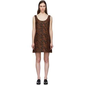 Lisa Marie Fernandez Brown and Black Zani Mini Dress  - Zebra - Size: Extra Small