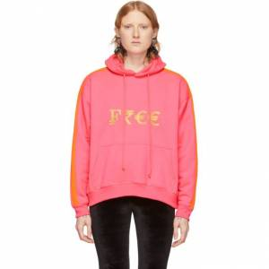VETEMENTS Pink Currency Hoodie  - FLUO PINK - Size: Small