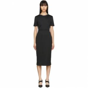 Fendi Black Forever Fendi Short Sleeve Dress  - F0GME Black - Size: Extra Small