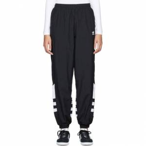adidas Originals Black Big Logo Track Pants  - Black - Size: 26