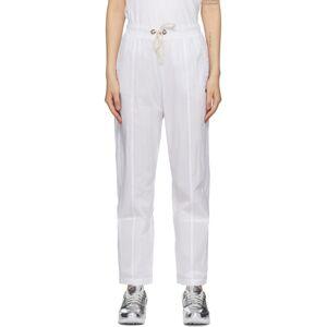 Champion Reverse Weave White Logo Tape Detail Track Pants  - WHT White - Size: 28