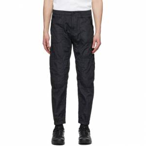 Stone Island Black Seersucker Cargo Pants  - V0029 BLACK - Size: 34