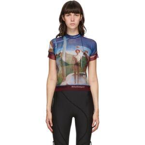 Ottolinger Multicolor Mesh Julien Nguyen Print Turtleneck  - Julien - Size: Extra Small