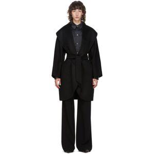 Max Mara Black Cashmere Galles Coat  - 004 Black - Size: Extra Small