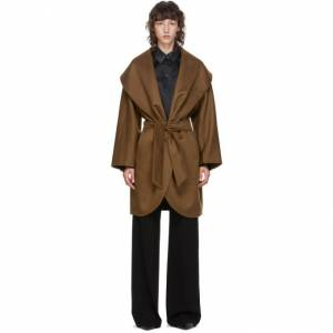 Max Mara Brown Cashmere Galles Coat  - 057 Brown - Size: Extra Small