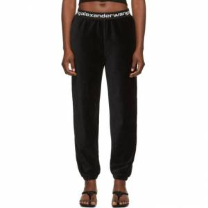 alexanderwang.t Black Corduroy Lounge Pants  - 001 Black - Size: 26