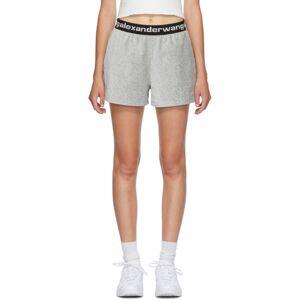 alexanderwang.t Grey Corduroy Logo Shorts  - 030 Heather - Size: 28