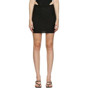 Miaou Black Moni Miniskirt  - Black Mesh - Size: 28
