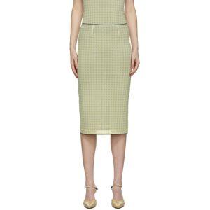 Miaou Yellow Mesh Moni Skirt  - Yellow Plai - Size: 24