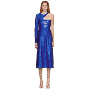 Saks Potts SSENSE Exclusive Blue Shimmer Kitten Dress  - Cobalt Blue - Size: Large