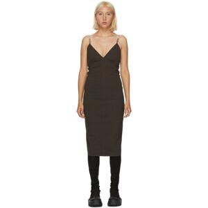 Rick Owens Brown Maillot Dress  - 78 Drk Dust - Size: Medium