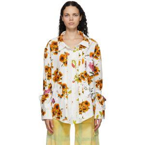Collina Strada White Kantamanto Shirt  - Floral - Size: Extra Small