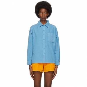 ERL Blue Corduroy Shirt  - BLUE - Size: Small