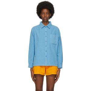 ERL Blue Corduroy Shirt  - BLUE - Size: Large