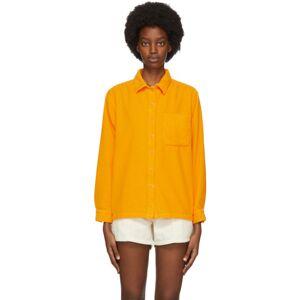 ERL Orange Corduroy Shirt  - 2 Orange - Size: Small