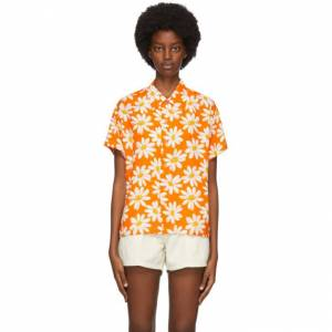 ERL Orange Daisy Shirt  - 1 Orange - Size: Extra Small