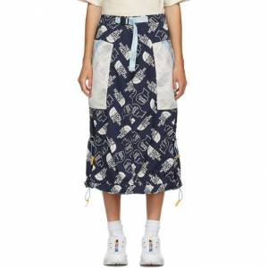 Brain Dead Navy The North Face Edition Tech Skirt  - NAVY - WF3 - Size: 28