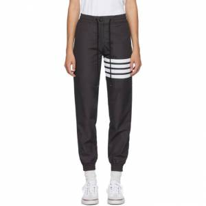 Thom Browne Grey 4-Bar Track Pants  - 015 Charcoa - Size: 28