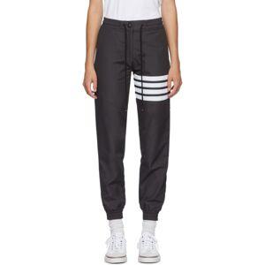 Thom Browne Grey 4-Bar Track Pants  - 015 Charcoa - Size: 24