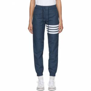 Thom Browne Navy 4-Bar Track Pants  - 415 Navy - Size: 26