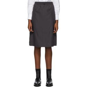 Thom Browne Black Flyweight Gusset Skirt  - 015 Chrcoal - Size: 26