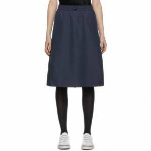 Thom Browne Navy Flyweight Gusset Skirt  - 415 Navy - Size: 24