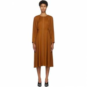 Partow Orange River Mid-Length Dress  - Persimmon - Size: Extra Small