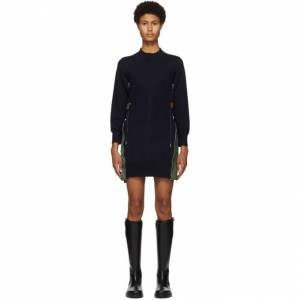 Sacai Navy Sponge MA-1 Dress  - 201 Navy - Size: Large