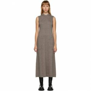 Peter Do SSENSE Exclusive Brown Knit Sleeveless Dress  - Cacao - Size: Large
