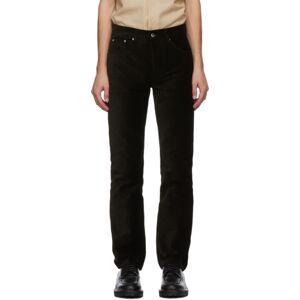 Sefr Black Corduroy Sin Trousers  - BLACK - Size: 34